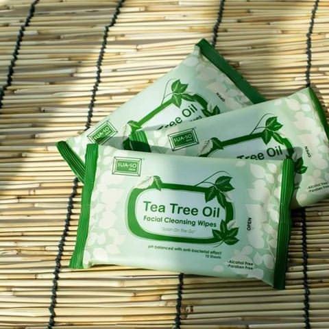 tea tree wipe tips menghilangkan kotoran dan minyak di muka