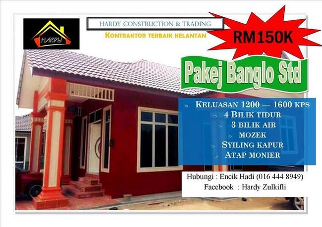 pakej bina banglo serendah RM159k di kelantan