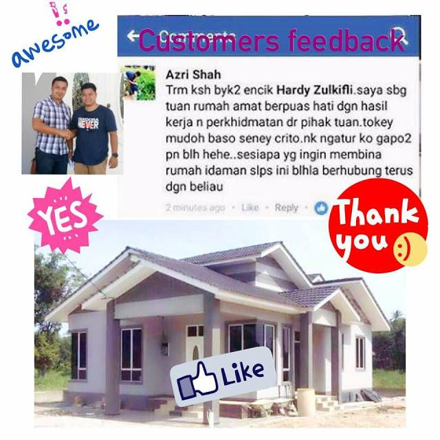 testimoni pelanggan hardy construction