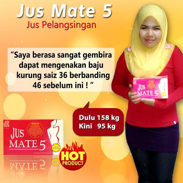 jus mate 5 membantu turunkan 1kg sehari