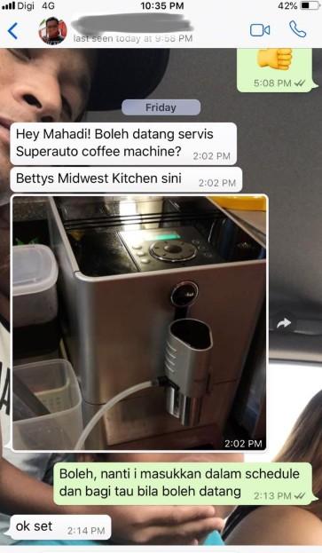 coffee machine mudah digunakan