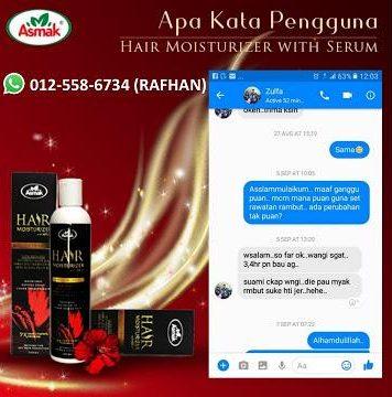 testimoni pengguna asmak hair moisturizer