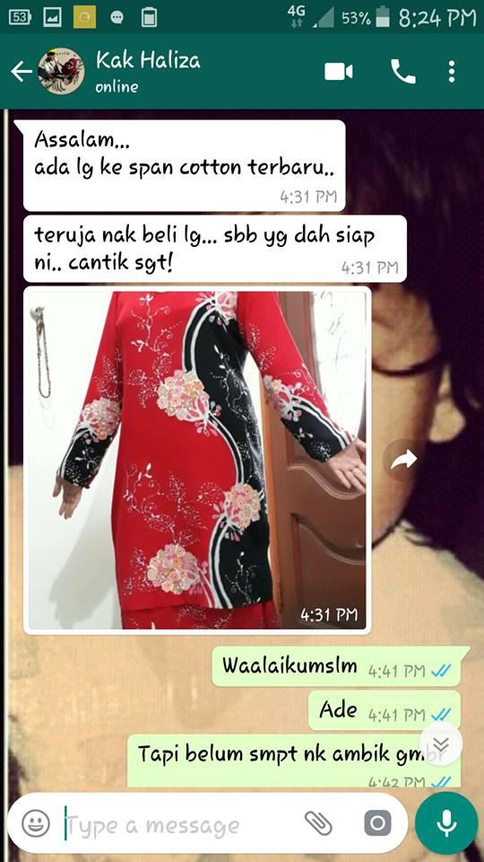testimoni pembeli shanaz batik