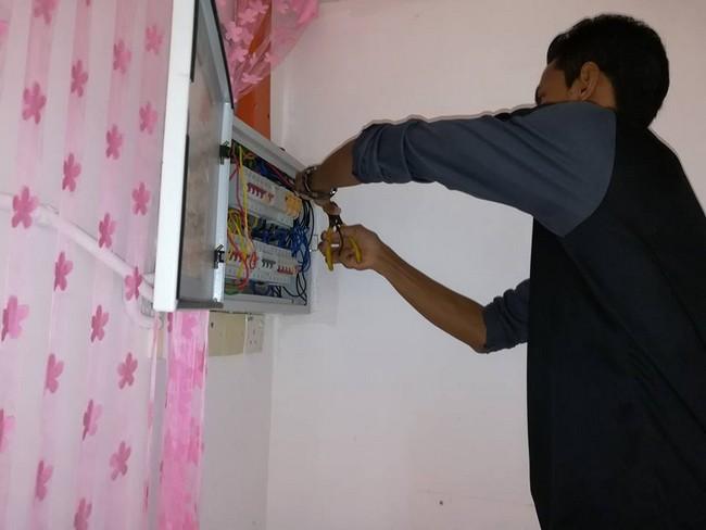 wiring utama untuk aircond