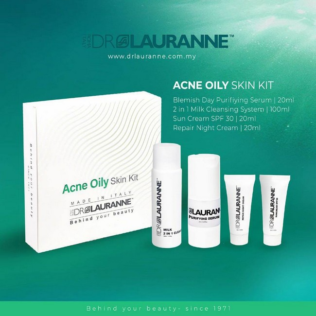 acne oily kit by dr lauranne