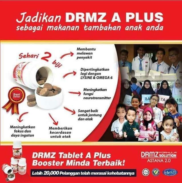 DRMZ A Plus tablet pengganti makanan ringan