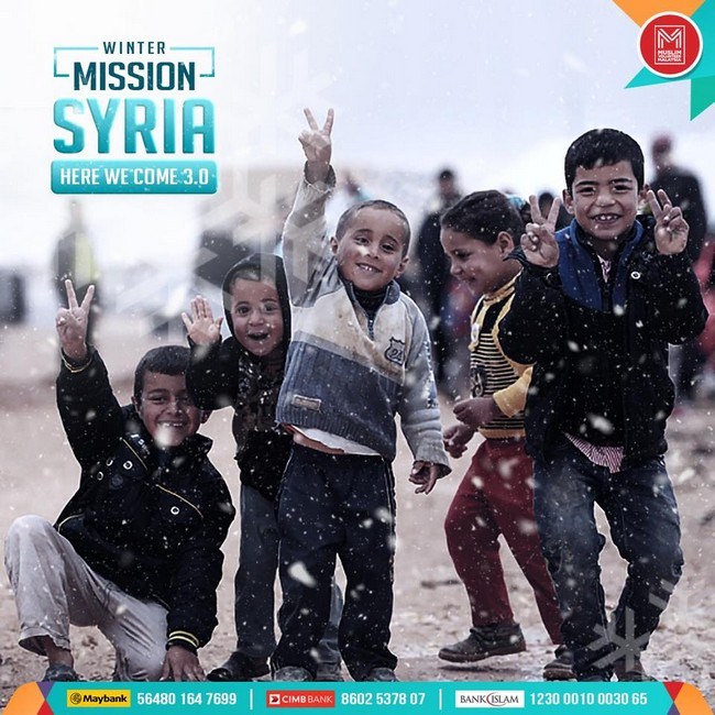 rakyat syria sangat memerlukan bantuan alatan semasa musim sejuk