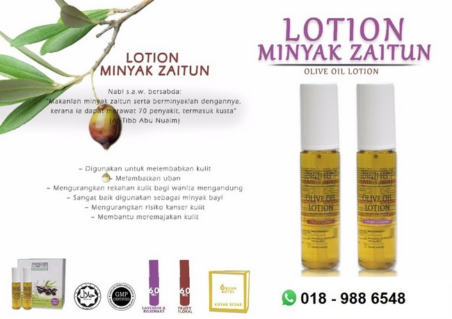 lotion minyak zaitun