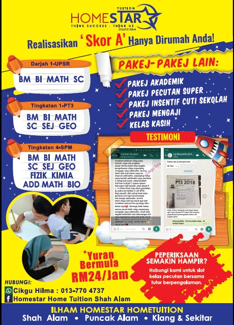 pakej akademik hometuition shah alam