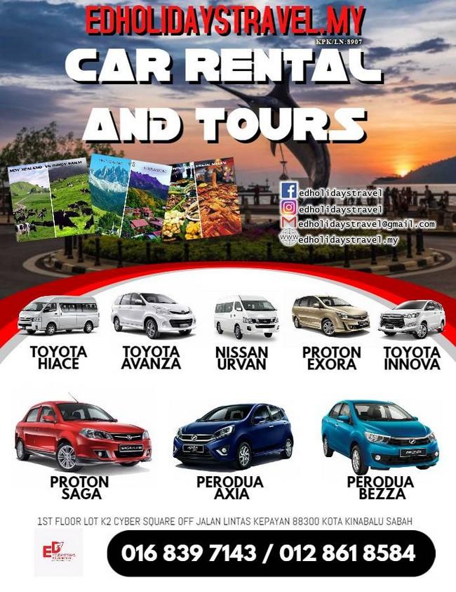 Kereta Sewa di Kota Kinabalu Promosi Banner