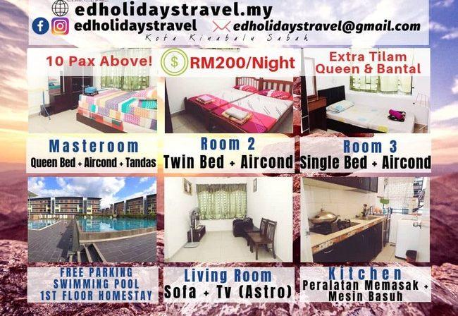 booking homestay murah di kota kinabalu