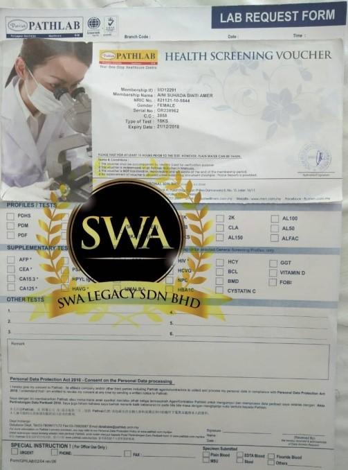 contoh borang medicsaver check up