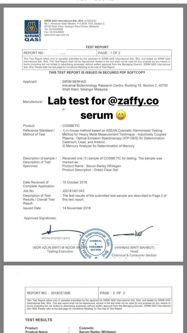 labtest zaffy serum