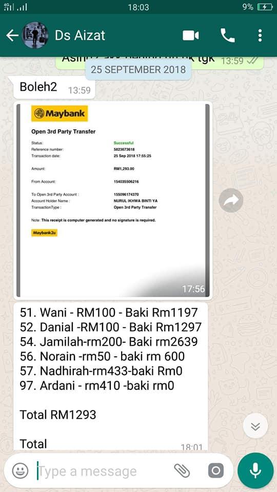 chat pembelian emas secara online
