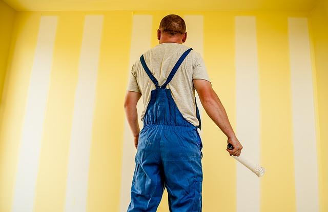 kerja mengecat dinding rumah terbaik