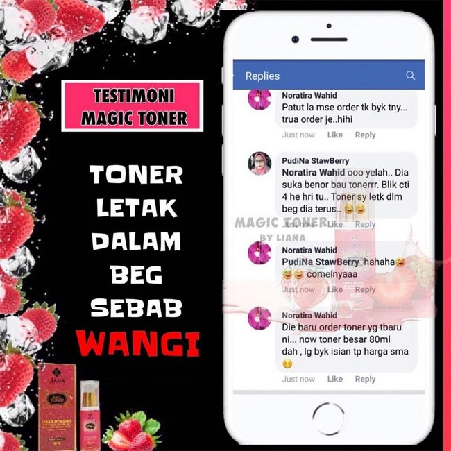 testimoni pengguna magic toner by liana