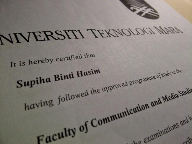 Sijil Diploma Pengiktirafan Diiktiraf