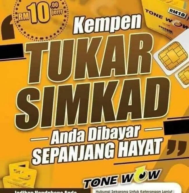 Simkad Tone Wow Selamat