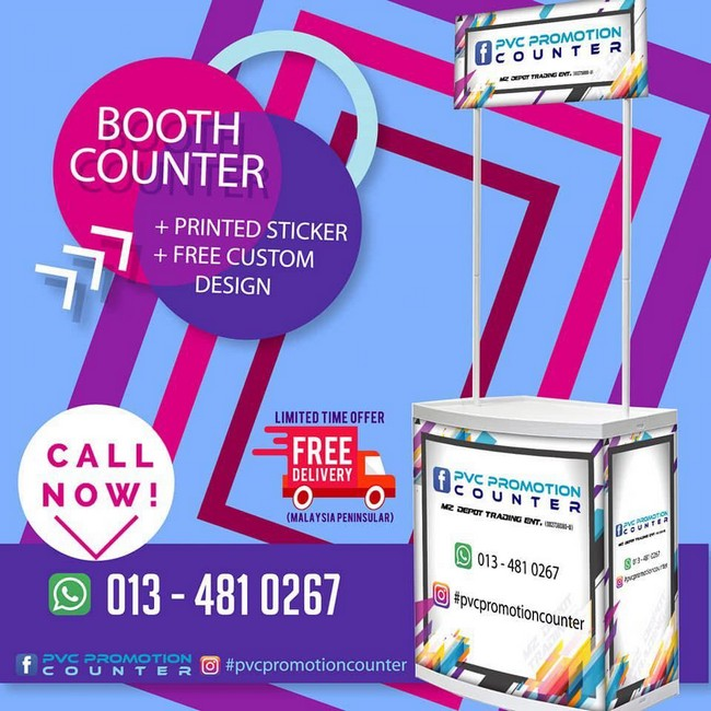 Pvc Promotion Counter & Design Gombak Hebat