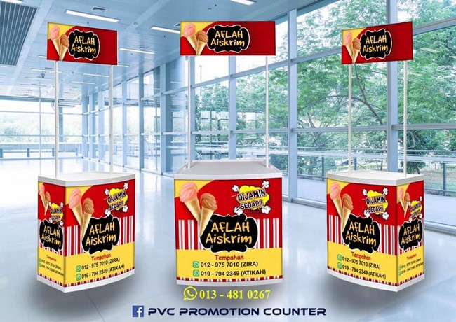 Pvc Promotion Counter & Design Gombak Lejen