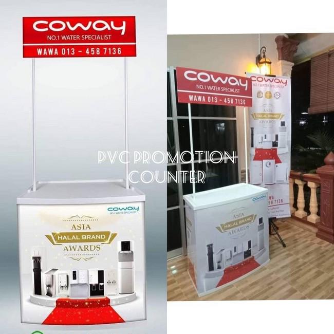 Pvc Promotion Counter & Design Gombak Mudah dan Ringan