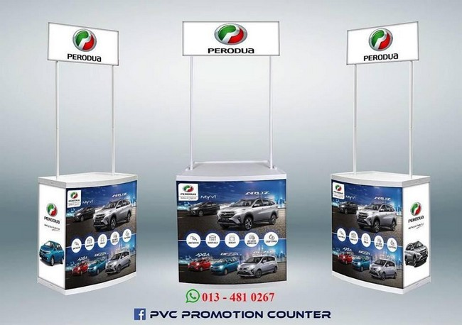 Pvc Promotion Counter & Design Gombak Mudah