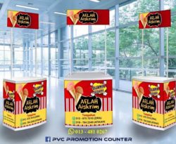 Cara Pasang PVC Booth Counter Dan Tips Gandakan Sales Offline