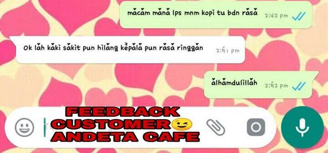 Andeta Cafe Kopi Yang Sedap