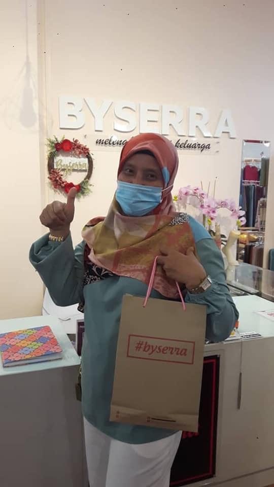 testimoni pelanggan byserra butik muslimah