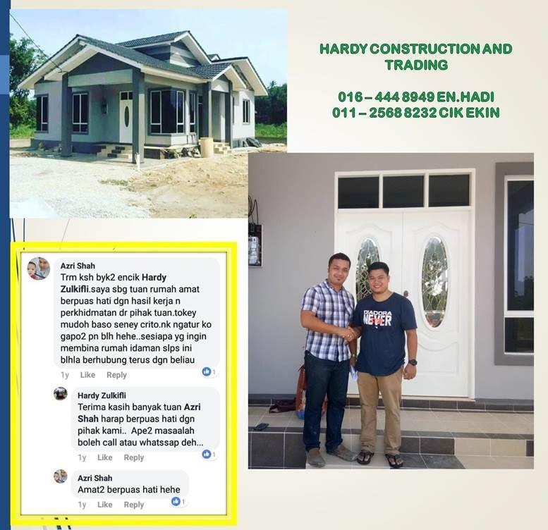 hubungi hardy construction untuk buat rumah
