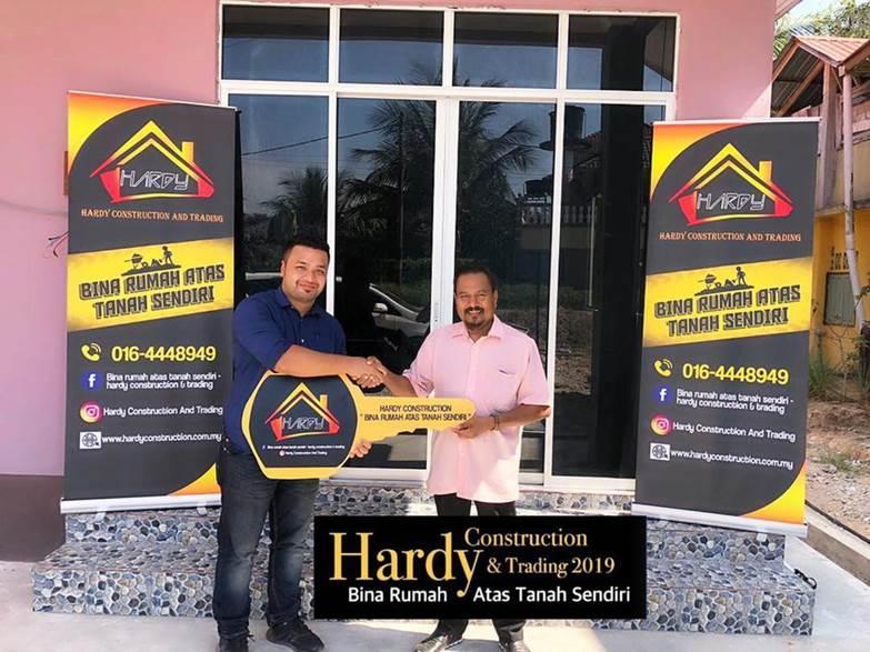 pelanggan rumah mampu milik hardy construction